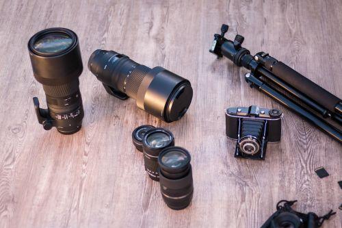 lenses tripod analog camera