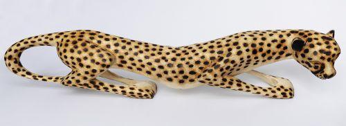 leopard holzfigur carving