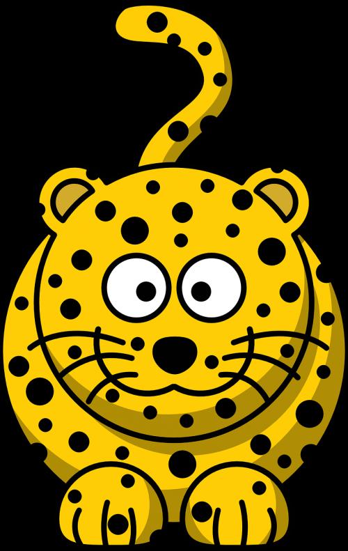 leopard spots yellow