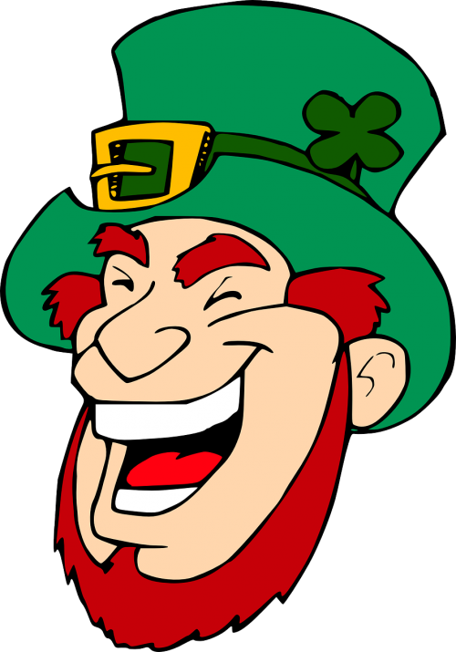 leprechaun laughing face