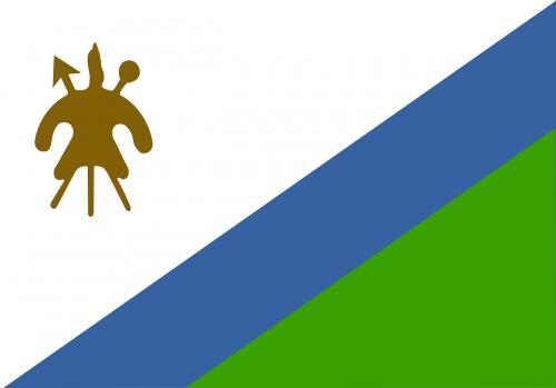 lesotho flag national