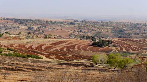 lesotho landscape spring