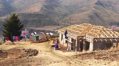 lesotho house construction landscape