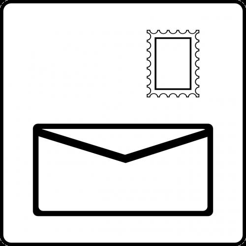 letter postal service stamp