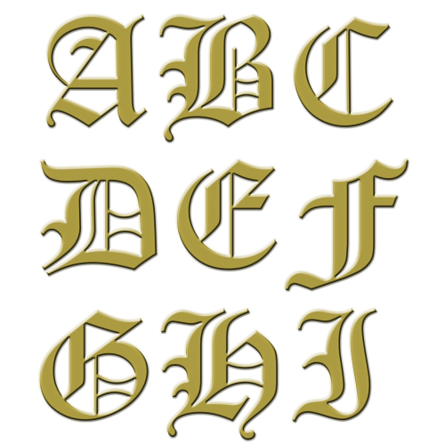 letter initial gold