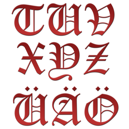 letter initial red