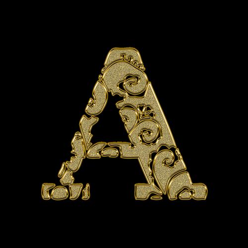 letter  litera  a
