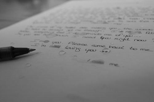 letter  tears  sad