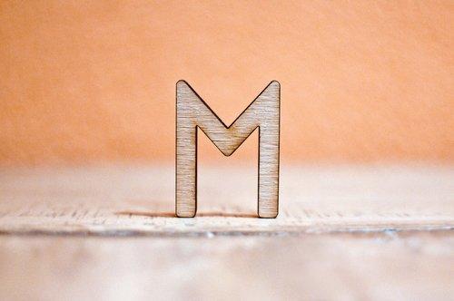 letter  m  wood