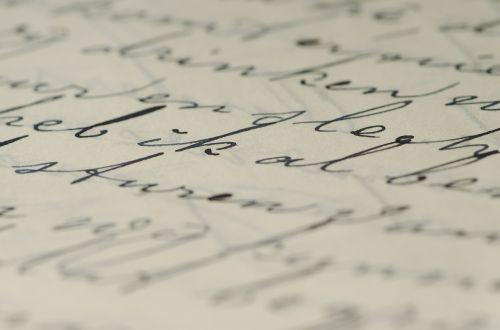 letter handwriting family letters