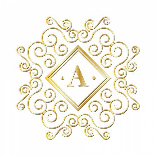 Letter A, Gold Monogram