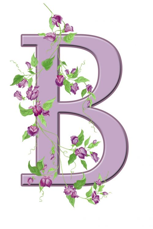 Letter B Floral Initial