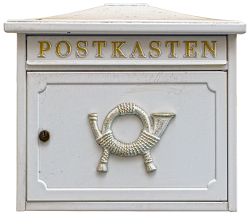 letter boxes post horn mailbox