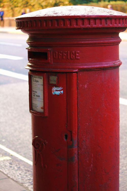 letter boxes red pillar