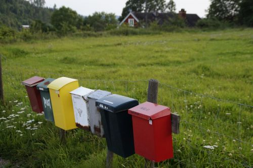 letter boxes mailbox post