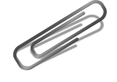 letter clip paperclip help item in the office