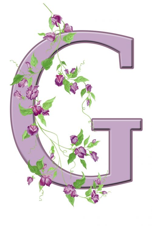 Letter G Floral Initial