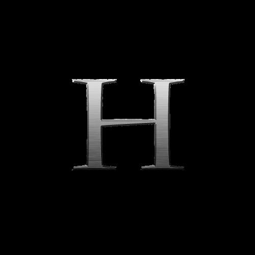 letter h metal steel
