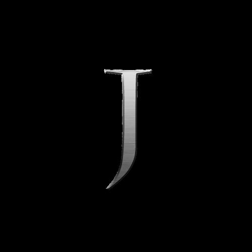 letter j metal steel