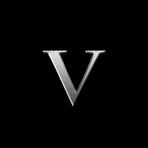 letter t t metallic