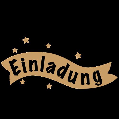 lettering invitation banner