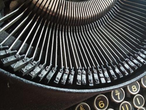 letters typewriter vintage