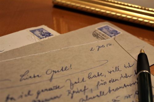letters old antique