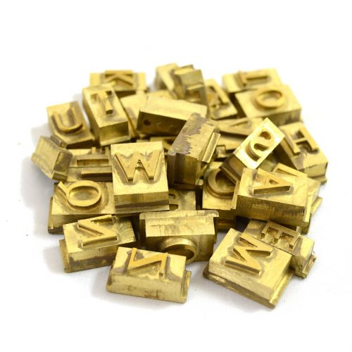 letters hot stamping brass