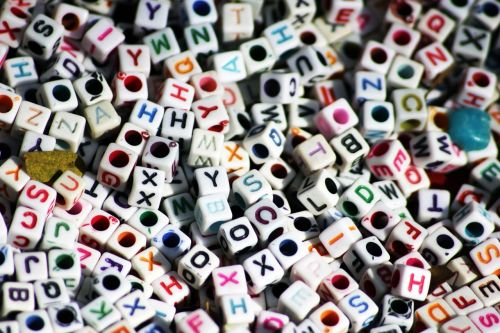 letters dices cubes