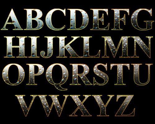 letters alphabet set