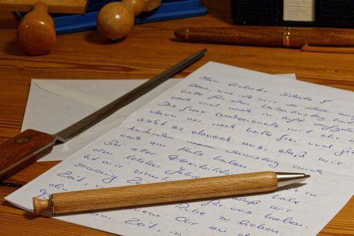 letters pen leave