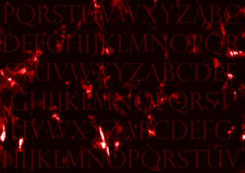 Letters Dark Red