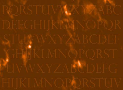 Letters Orange Gold