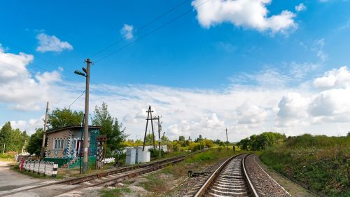 level crossing gleise railway