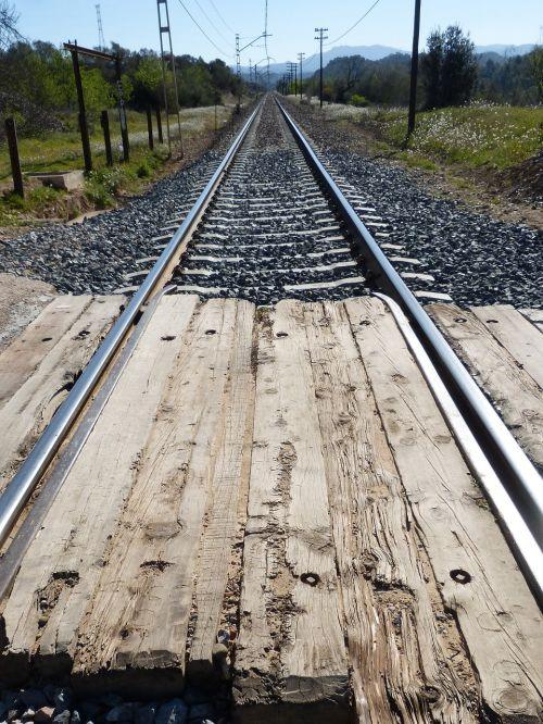 level crossing rails rail