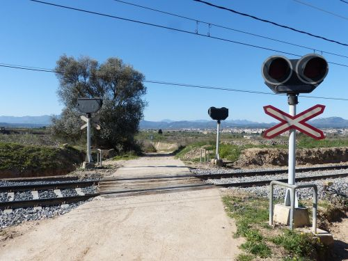 level crossing railway line railway