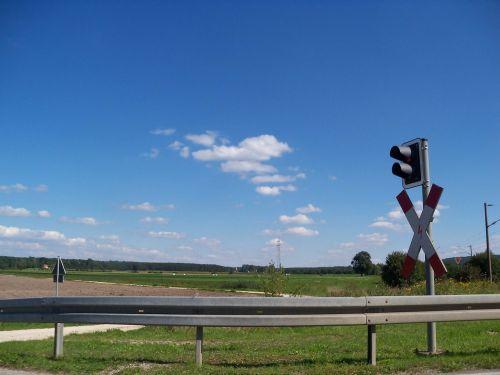 level crossing landscape frankish seenland