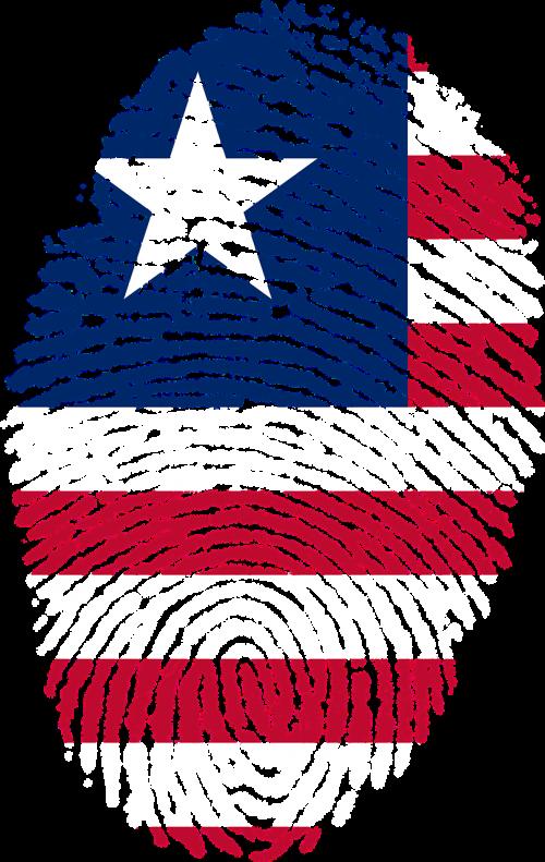 liberia flag fingerprint