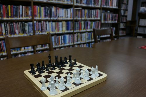 library chess chessboard