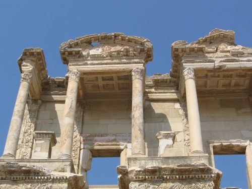 library ephesus classical architecture