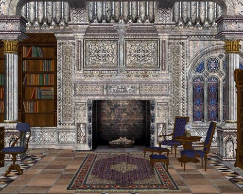 library grand room books