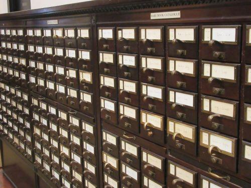 library card catalog books