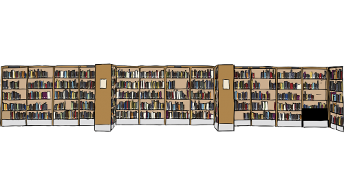 library books bookcases