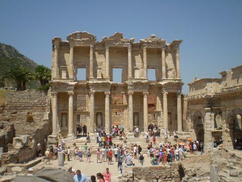 library of celsus ephesus ruins