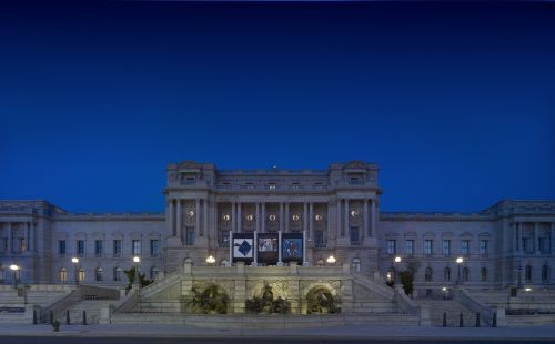 library of congress night architecture