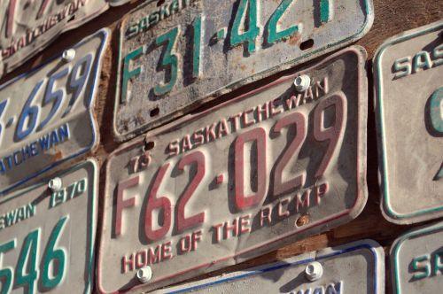 licence plates car plates
