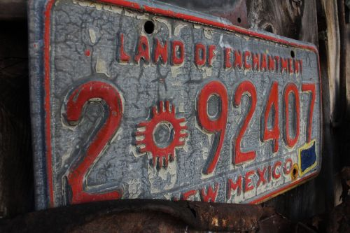 license plate new mexico antique