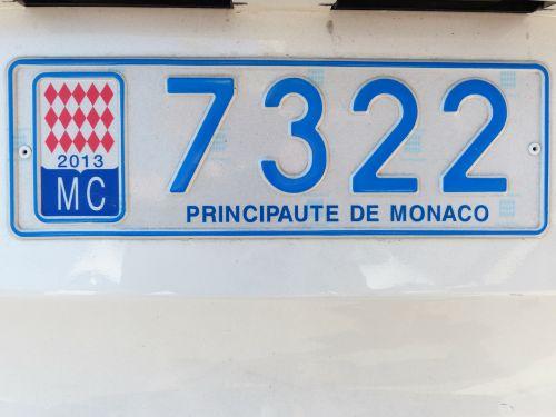 license plate monaco auto