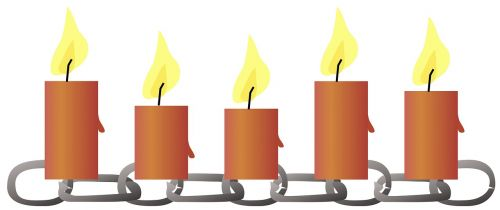lichterkette candles chain