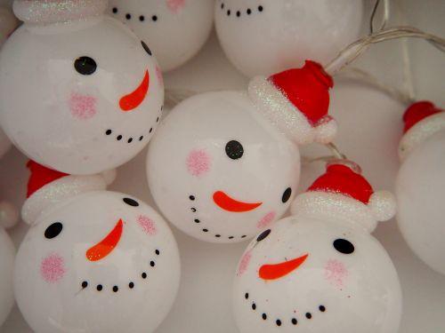 lichterkette christmas snowmen